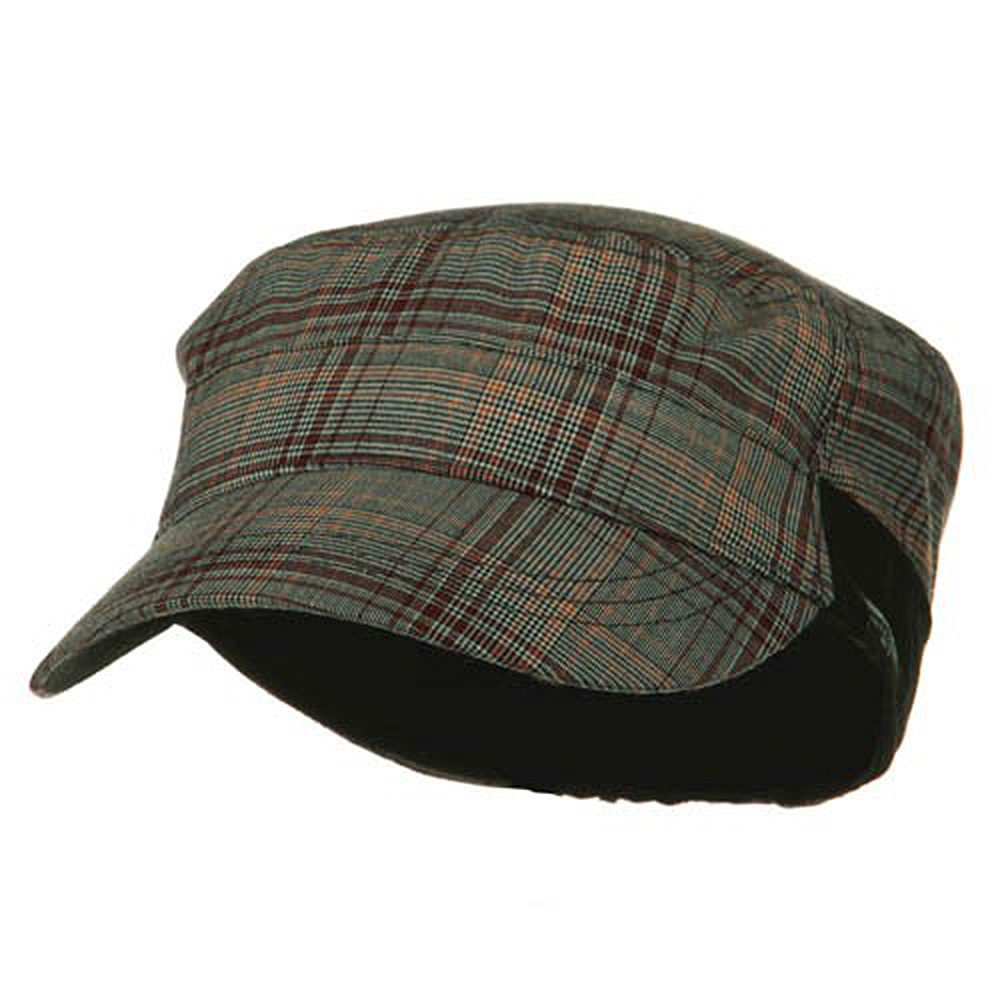 Fashion Plain Insulation Lining Army Cap - Red - Hats and Caps Online Shop - Hip Head Gear