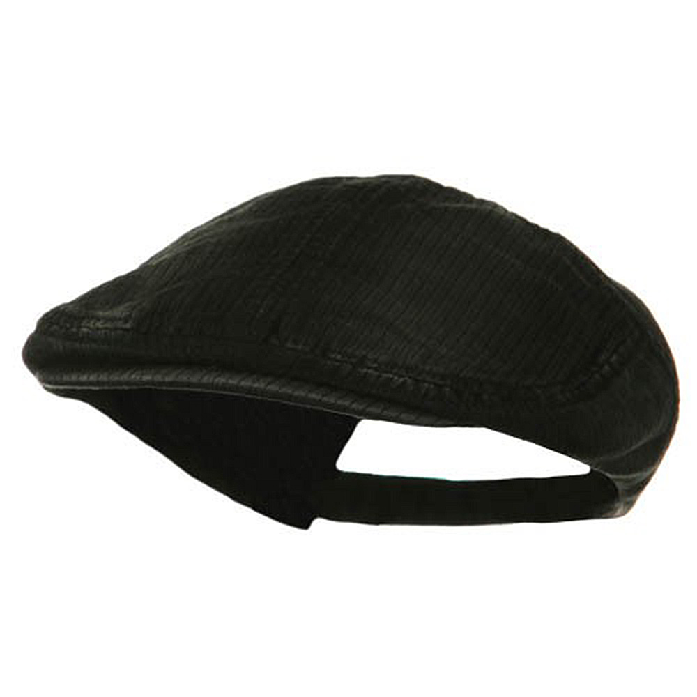Heavy Washed Pinstripe Cotton Ivy - Black - Hats and Caps Online Shop - Hip Head Gear