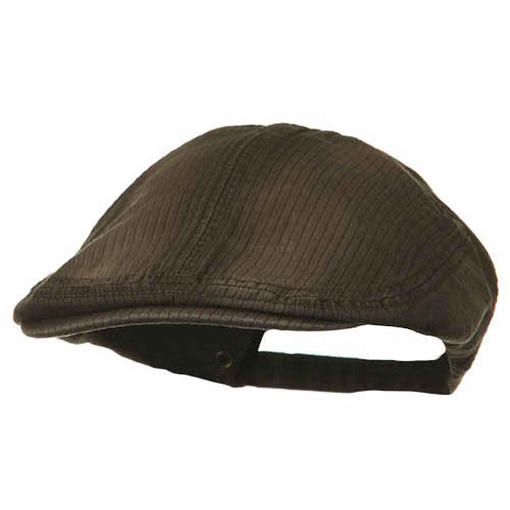 Heavy Washed Pinstripe Cotton Ivy - Brown - Hats and Caps Online Shop - Hip Head Gear