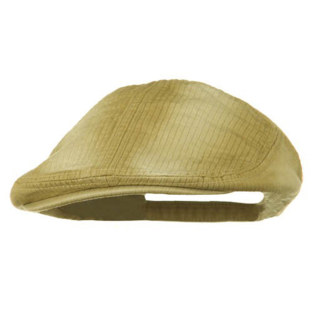 Heavy Washed Pinstripe Cotton Ivy - Khaki - Hats and Caps Online Shop - Hip Head Gear