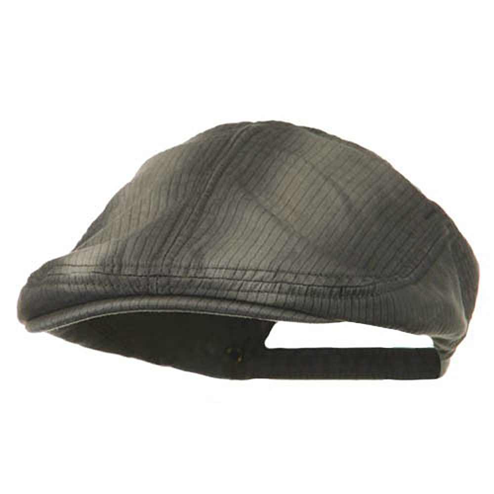 Heavy Washed Pinstripe Cotton Ivy - Charcoal - Hats and Caps Online Shop - Hip Head Gear
