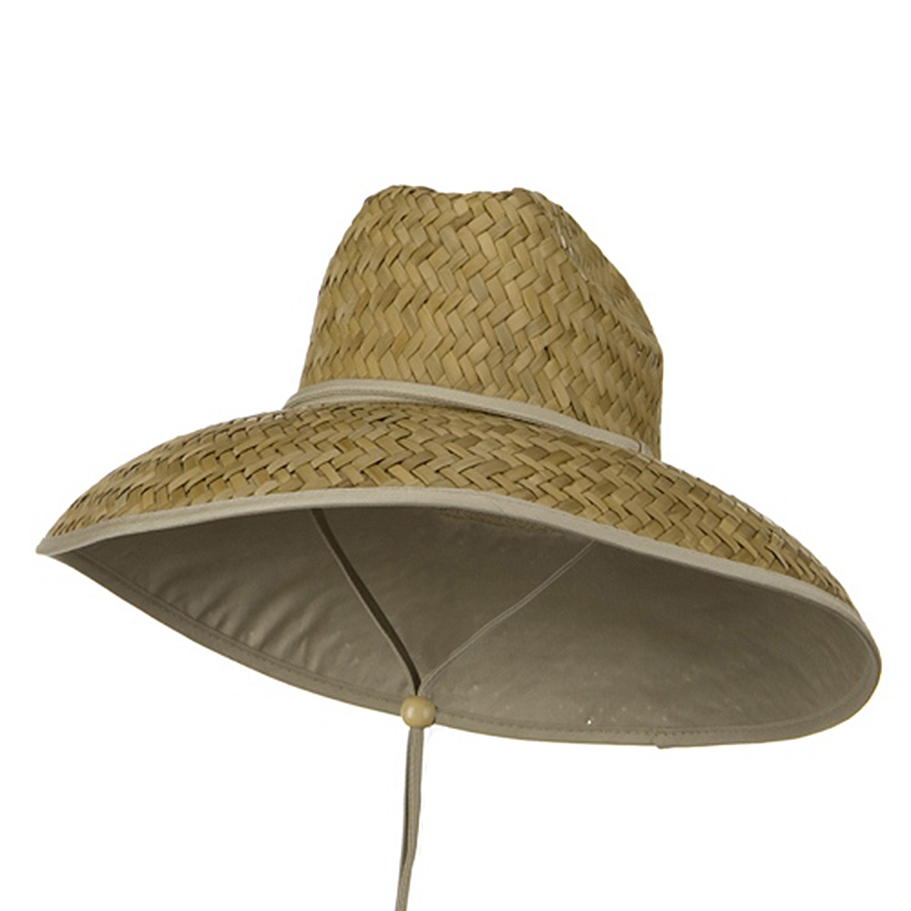 Palm Straw Under Brim Life Guard Hat - Natural - Hats and Caps Online Shop - Hip Head Gear