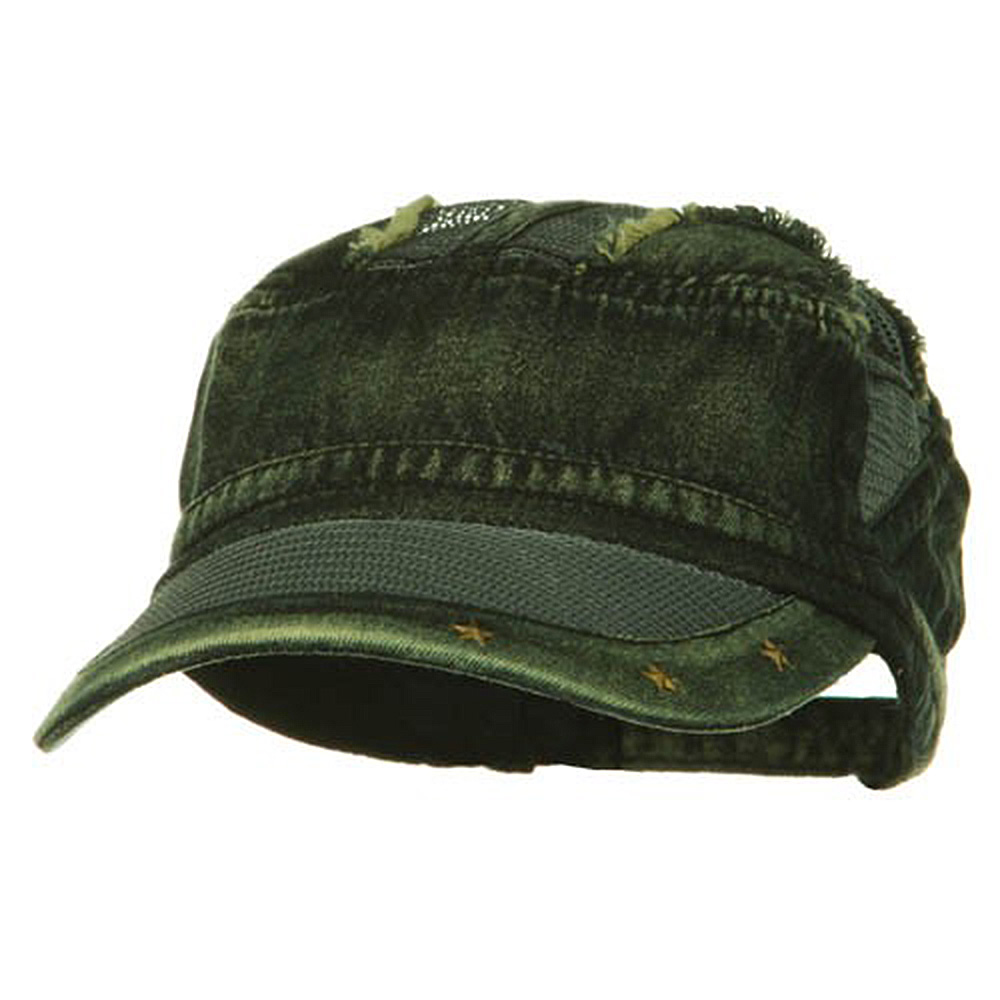Heavy Washed Mesh Bill Army Cap - Yellow Denim - Hats and Caps Online Shop - Hip Head Gear