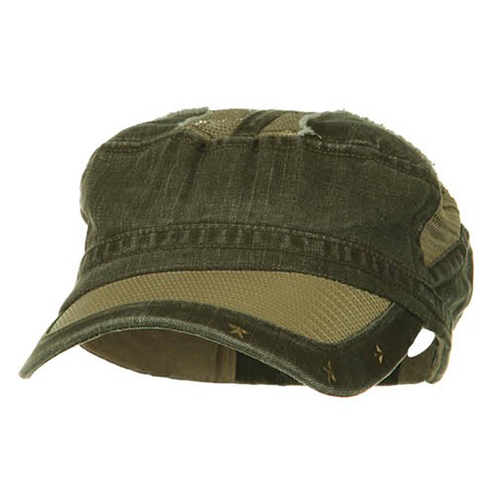 Heavy Washed Mesh Bill Army Cap - Woodland - Hats and Caps Online Shop - Hip Head Gear