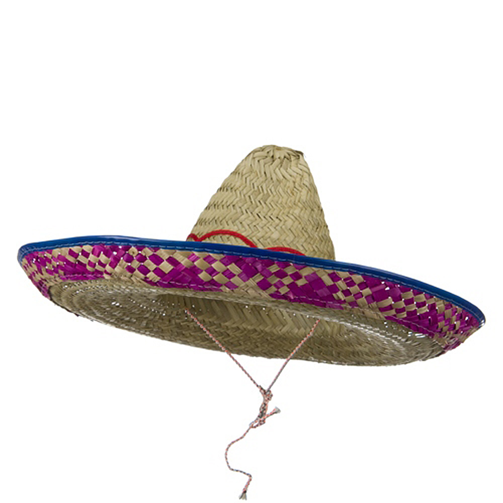 Embroidered Multi Colored Sombrero - Red Royal - Hats and Caps Online Shop - Hip Head Gear