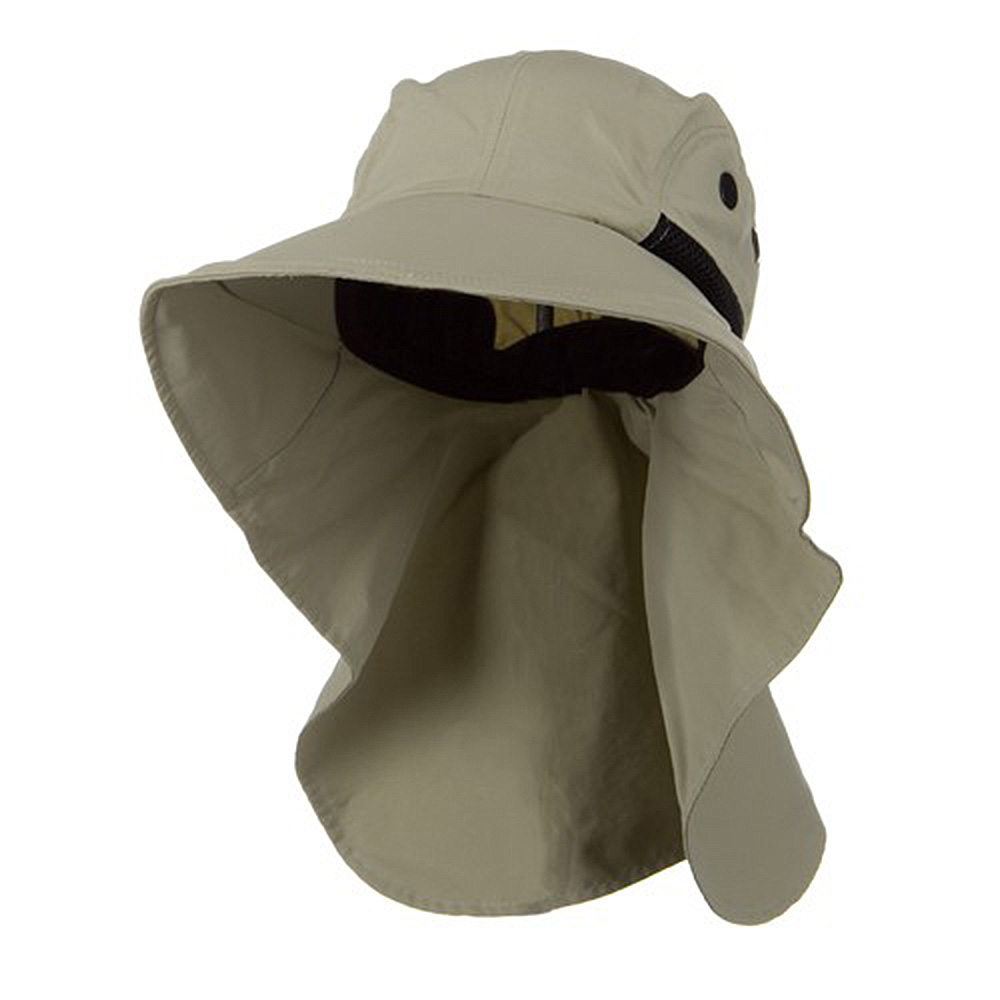 Moisture Management Large Bill Flap Cap - Khaki - Hats and Caps Online Shop - Hip Head Gear