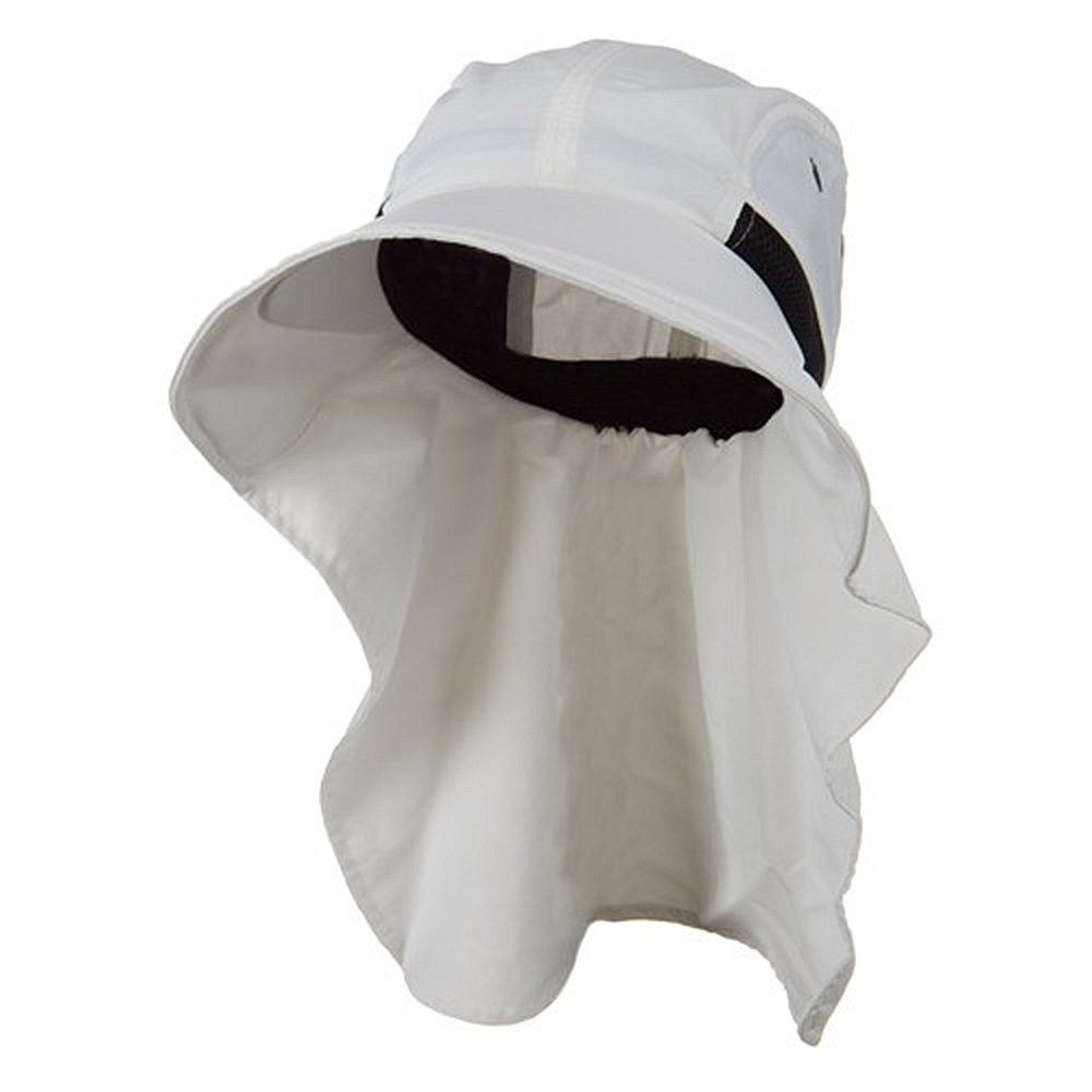Moisture Management Large Bill Flap Cap - White - Hats and Caps Online Shop - Hip Head Gear