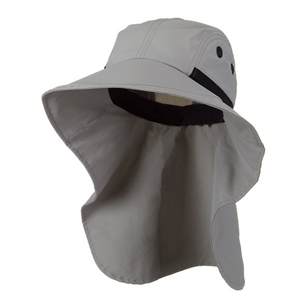 Moisture Management Large Bill Flap Cap - Grey - Hats and Caps Online Shop - Hip Head Gear