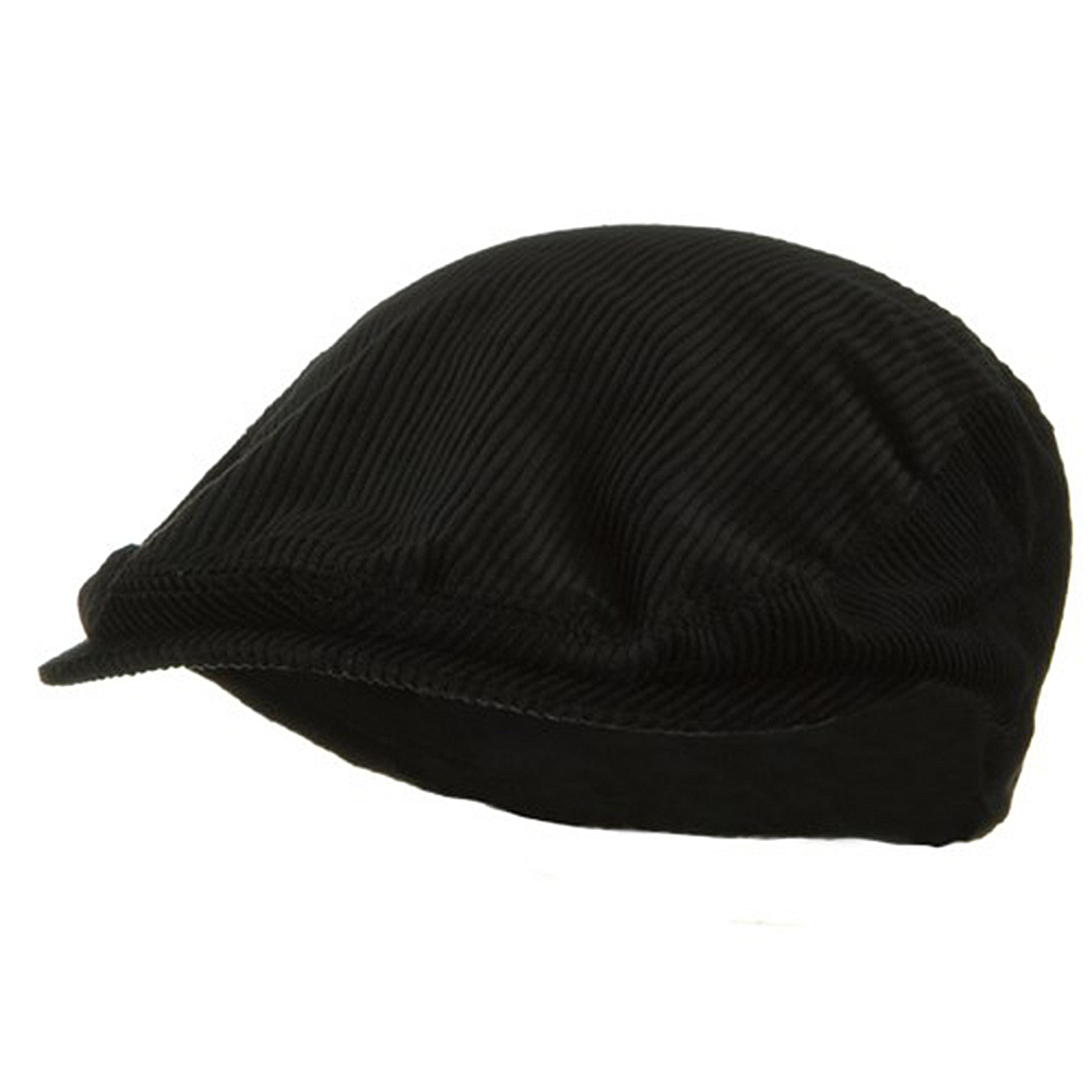 Elastic Corduroy Ivy Cap - Black - Hats and Caps Online Shop - Hip Head Gear