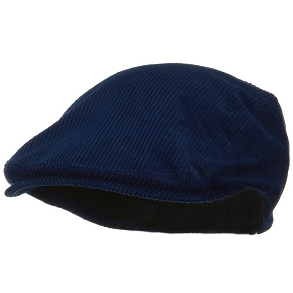 Elastic Corduroy Ivy Cap - Navy - Hats and Caps Online Shop - Hip Head Gear