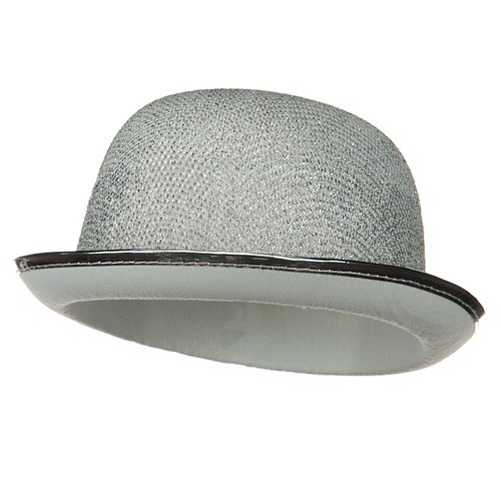 Glitter Derby Hat - Silver - Hats and Caps Online Shop - Hip Head Gear