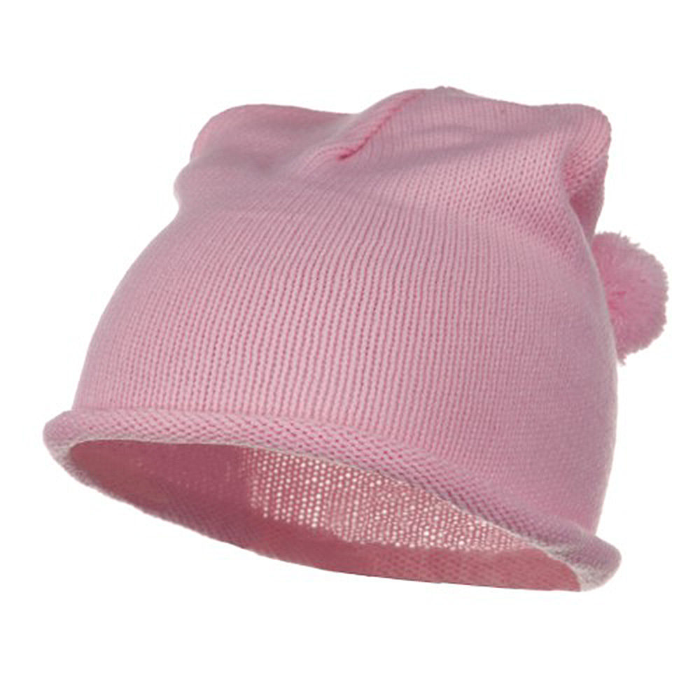 Children Knitting Hat - Light Pink - Hats and Caps Online Shop - Hip Head Gear