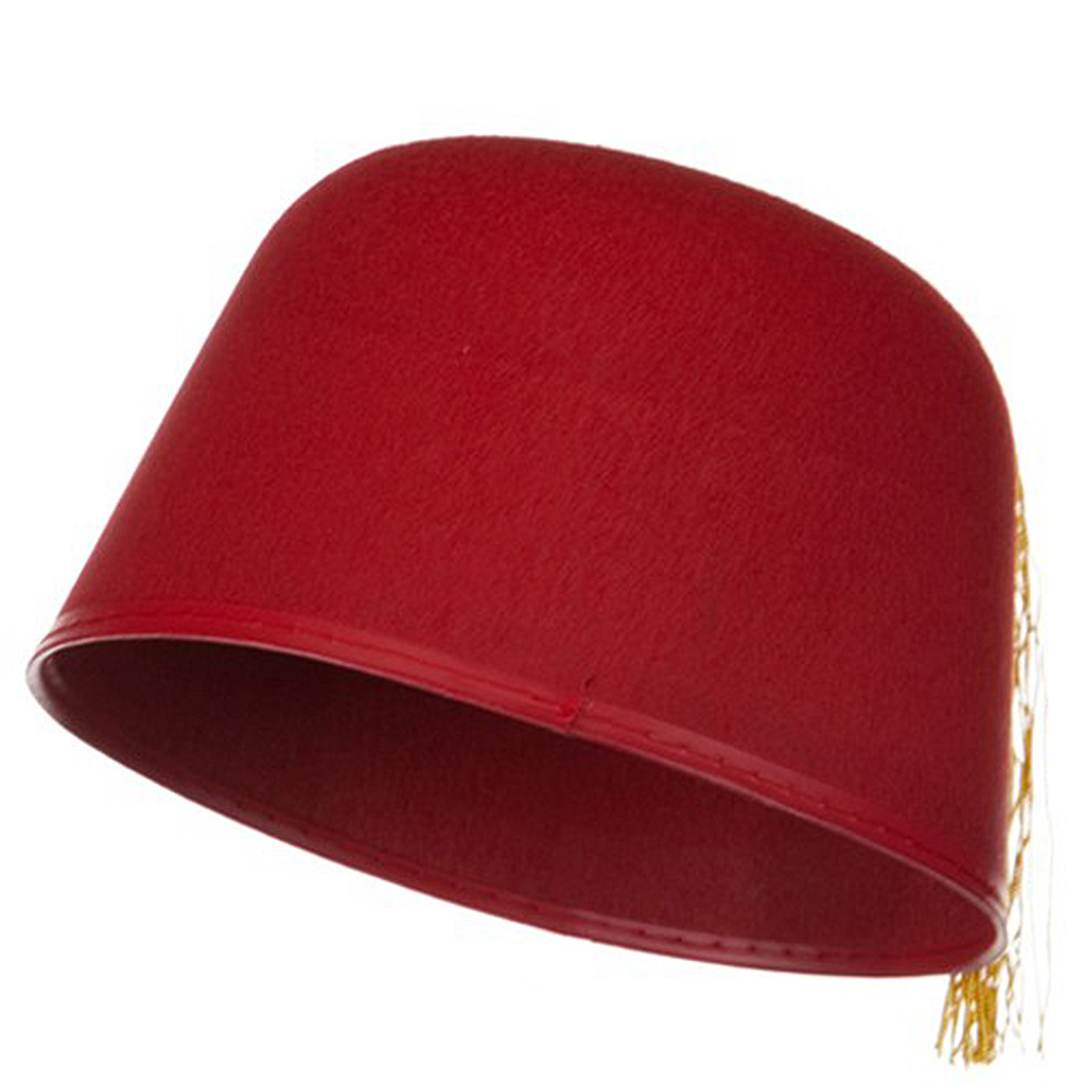 Felt Fez Hat - Red Yellow - Hats and Caps Online Shop - Hip Head Gear