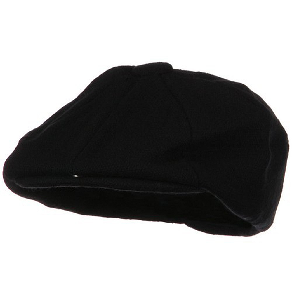 Big Wool Blend Newsboy Cap-Black - Hats and Caps Online Shop - Hip Head Gear