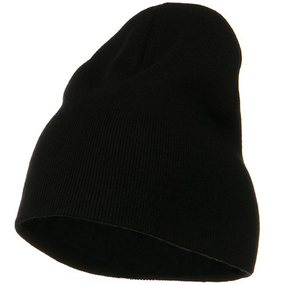 Big Size Superior Cotton Short Knit Beanie-Black - Hats and Caps Online Shop - Hip Head Gear