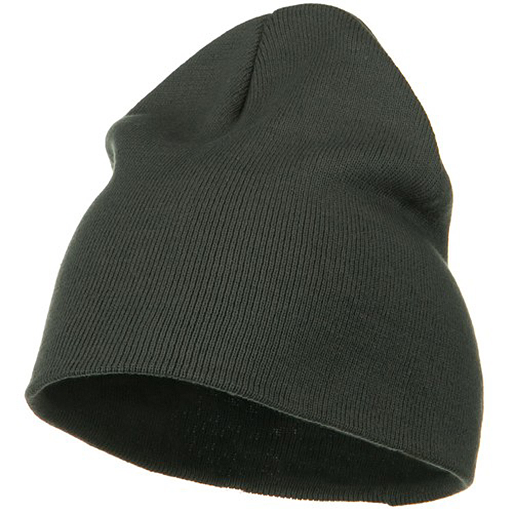 Big Size Superior Cotton Short Knit Beanie-Grey - Hats and Caps Online Shop - Hip Head Gear