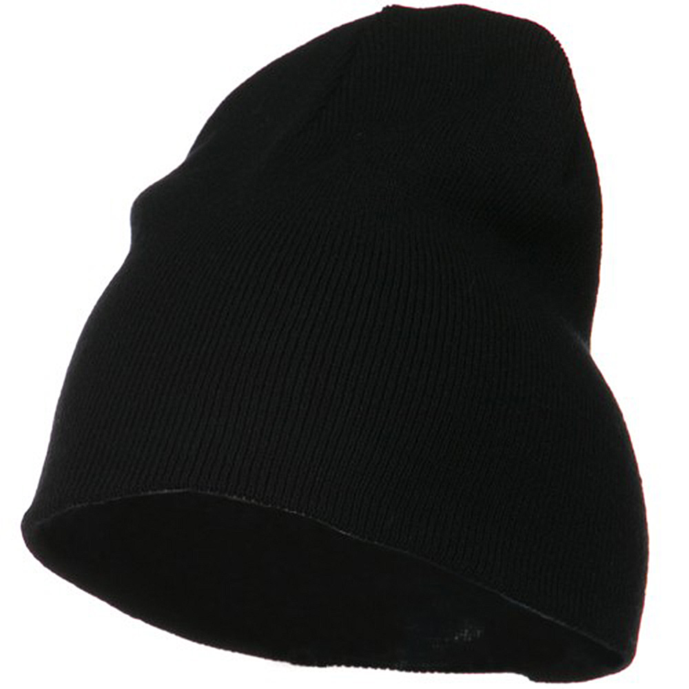 Big Size Acrylic Short Beanie-Black - Hats and Caps Online Shop - Hip Head Gear