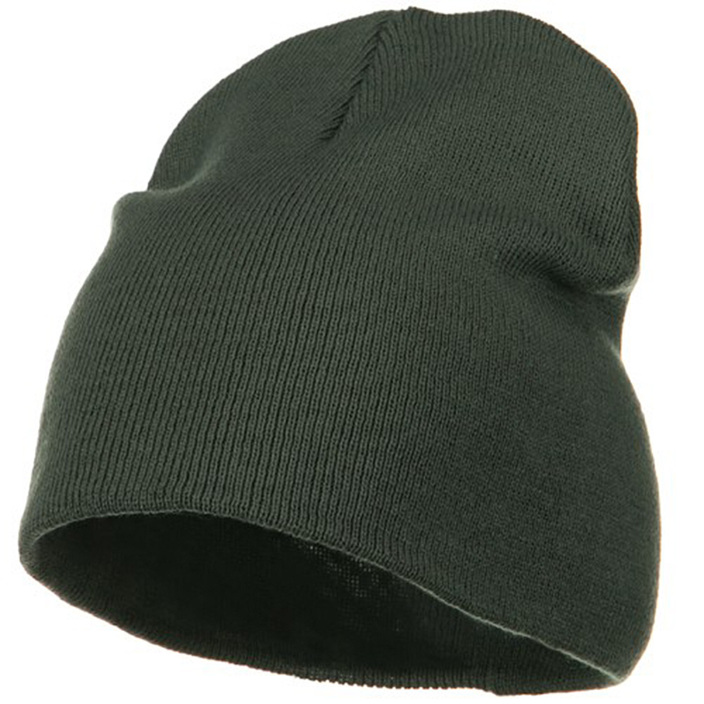 Big Size Acrylic Short Beanie-Grey - Hats and Caps Online Shop - Hip Head Gear