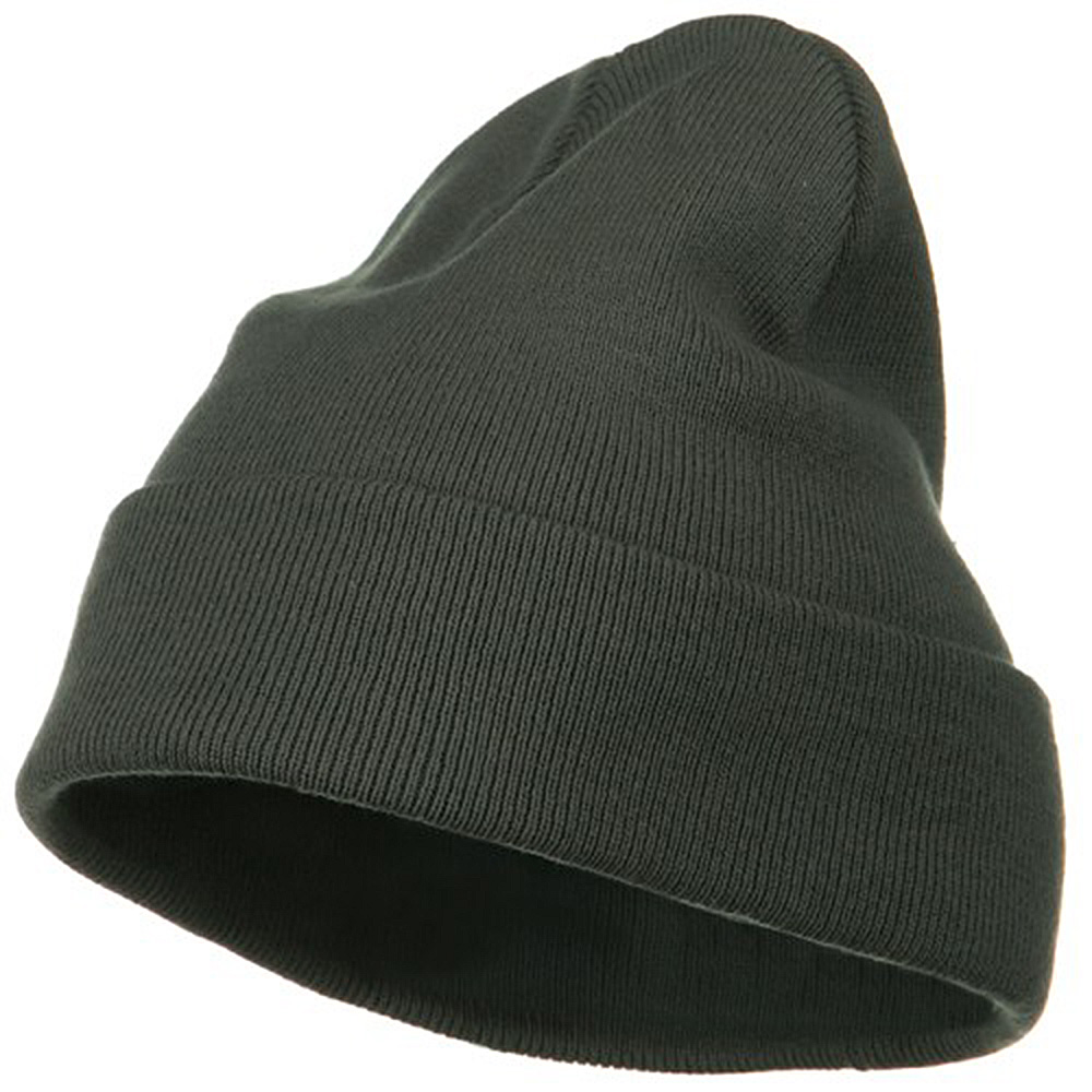 Big Size Superior Cotton Long Knitting Beanie-Grey - Hats and Caps Online Shop - Hip Head Gear