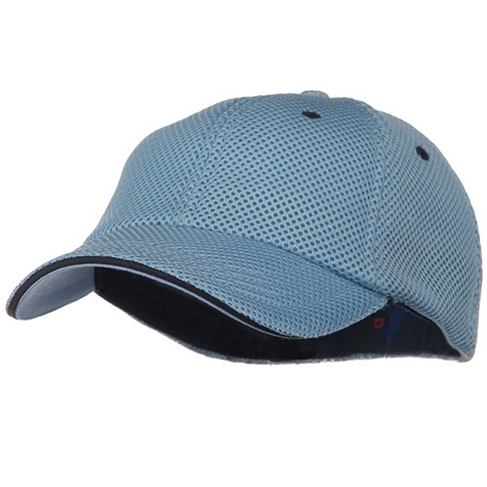 Deluxe Mesh Sandwich Bill Fitted Cap - Blue Navy - Hats and Caps Online Shop - Hip Head Gear