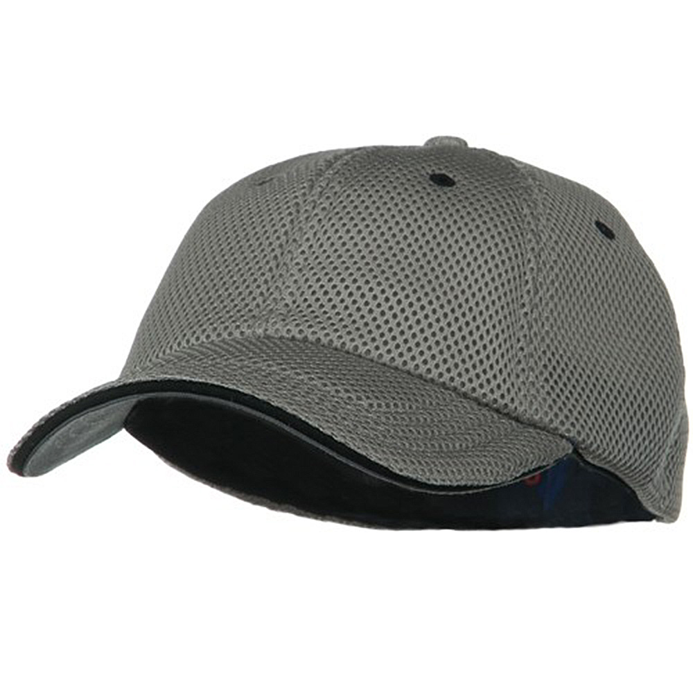 Deluxe Mesh Sandwich Bill Fitted Cap - Grey Black - Hats and Caps Online Shop - Hip Head Gear