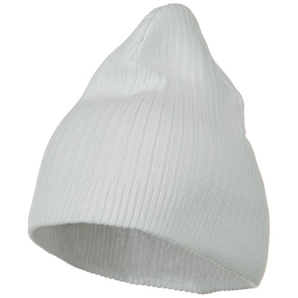 Big Stripe Ribbed Cotton Beanie - White - Hats and Caps Online Shop - Hip Head Gear