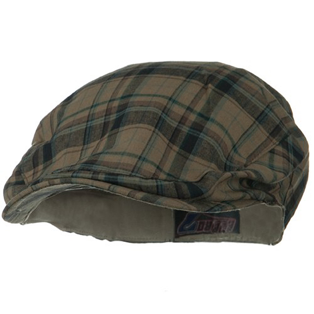 Cotton Big Plaid Ivy - Khaki Plaid - Hats and Caps Online Shop - Hip Head Gear