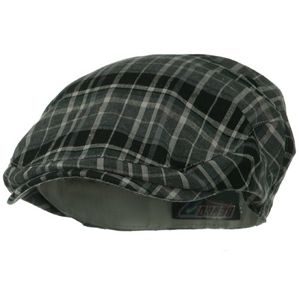Cotton Big Plaid Ivy - Grey Plaid - Hats and Caps Online Shop - Hip Head Gear