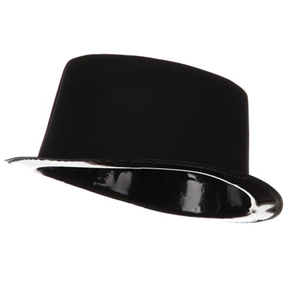 Flocked Top Hat - Black - Hats and Caps Online Shop - Hip Head Gear