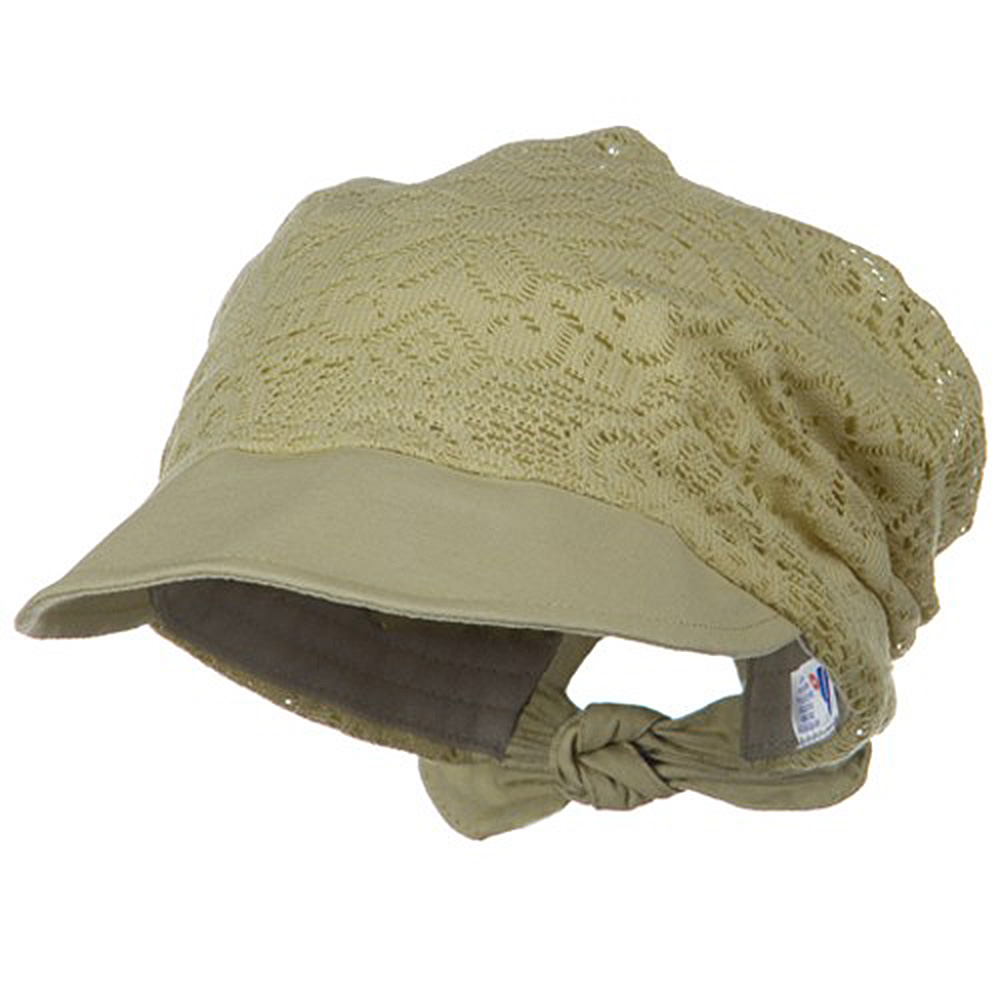 Ladies Jacquard Mesh Hat - Khaki