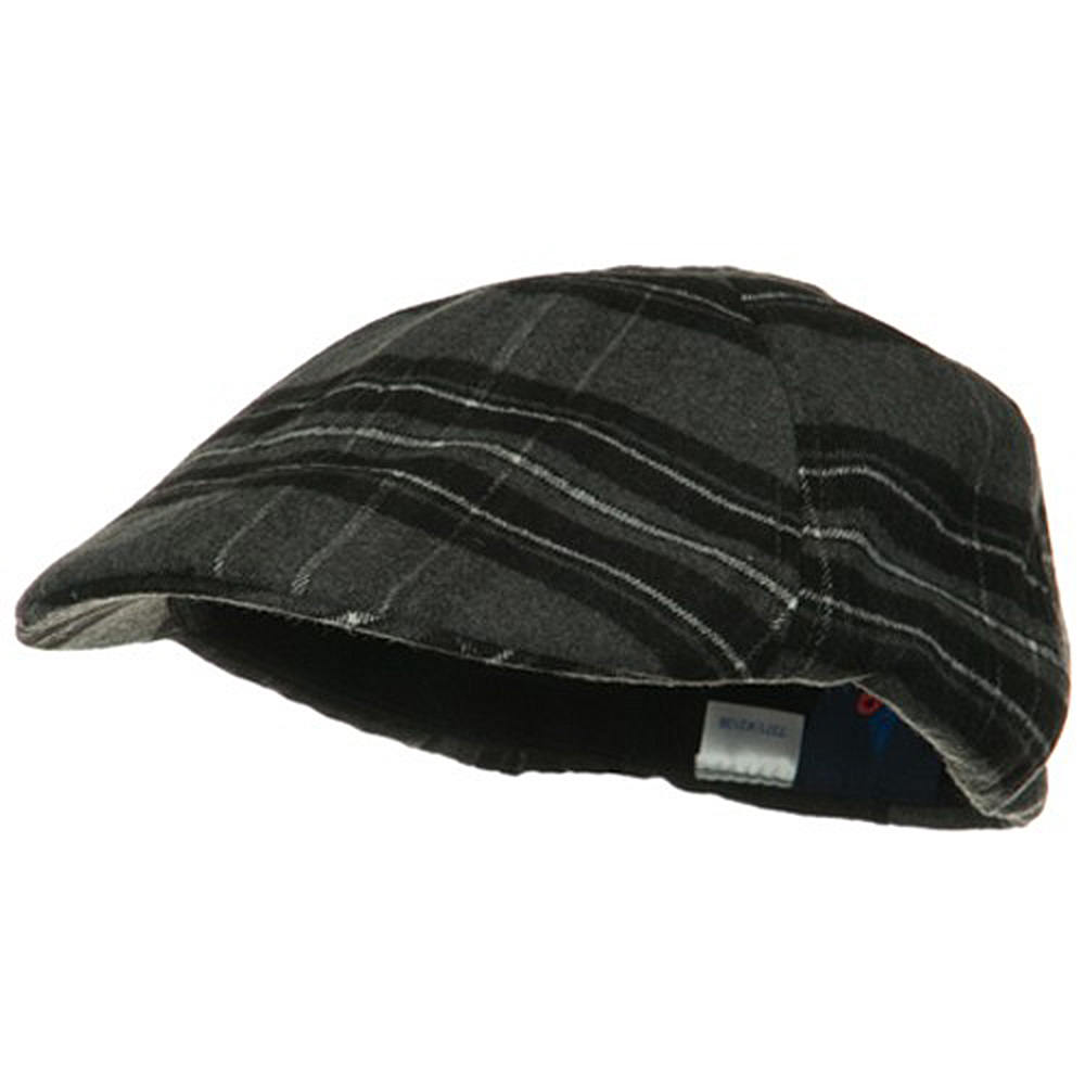 Plaid Design Ivy Cap - Black Grey - Hats and Caps Online Shop - Hip Head Gear
