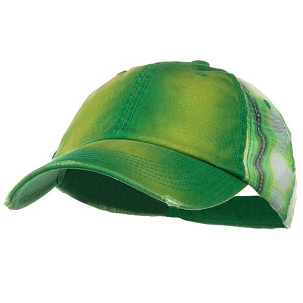 Washed Cotton Plaid Low Profile Cap - Kelly Green - Hats and Caps Online Shop - Hip Head Gear