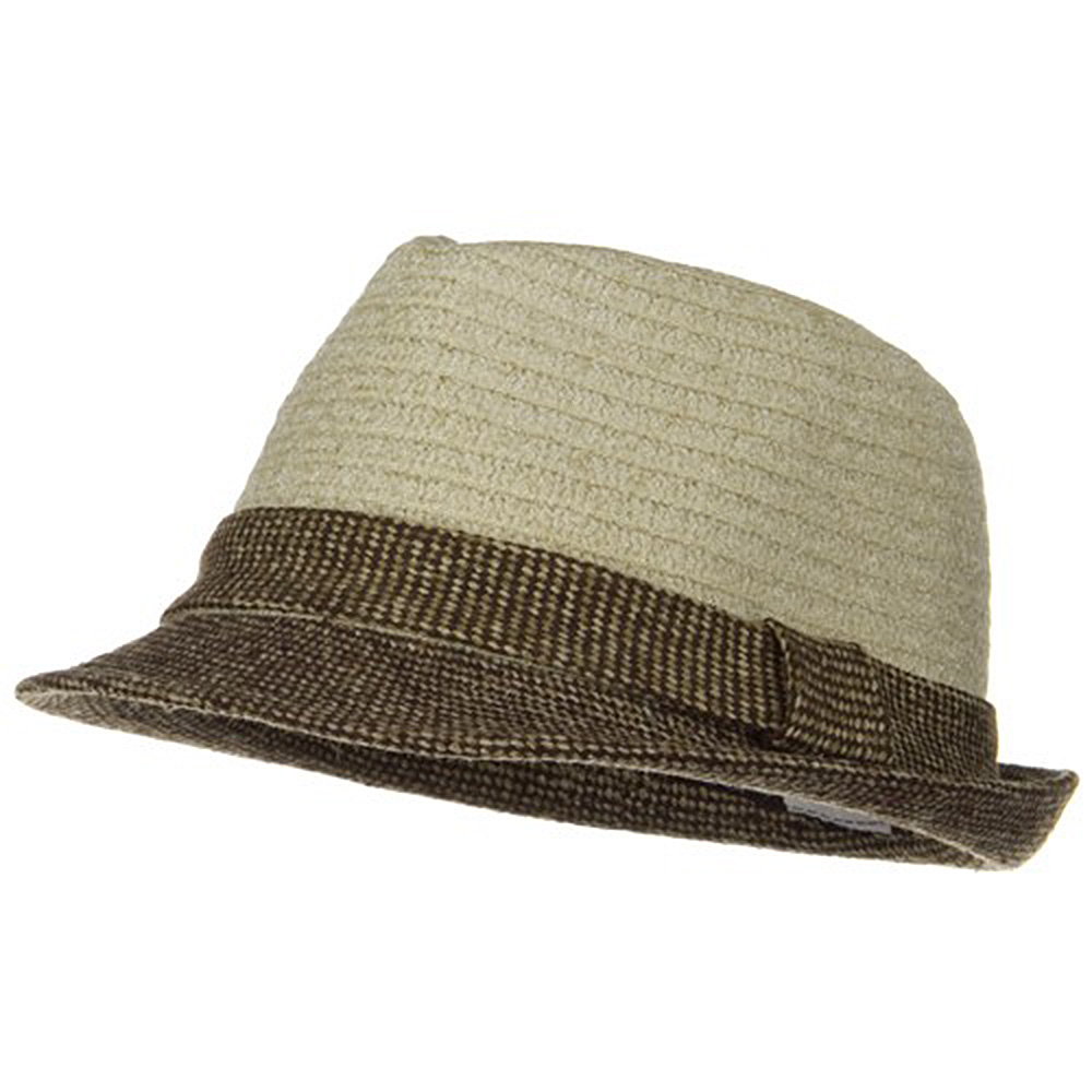 Braided Two Tone Fedora - Ivory - Hats and Caps Online Shop - Hip Head Gear