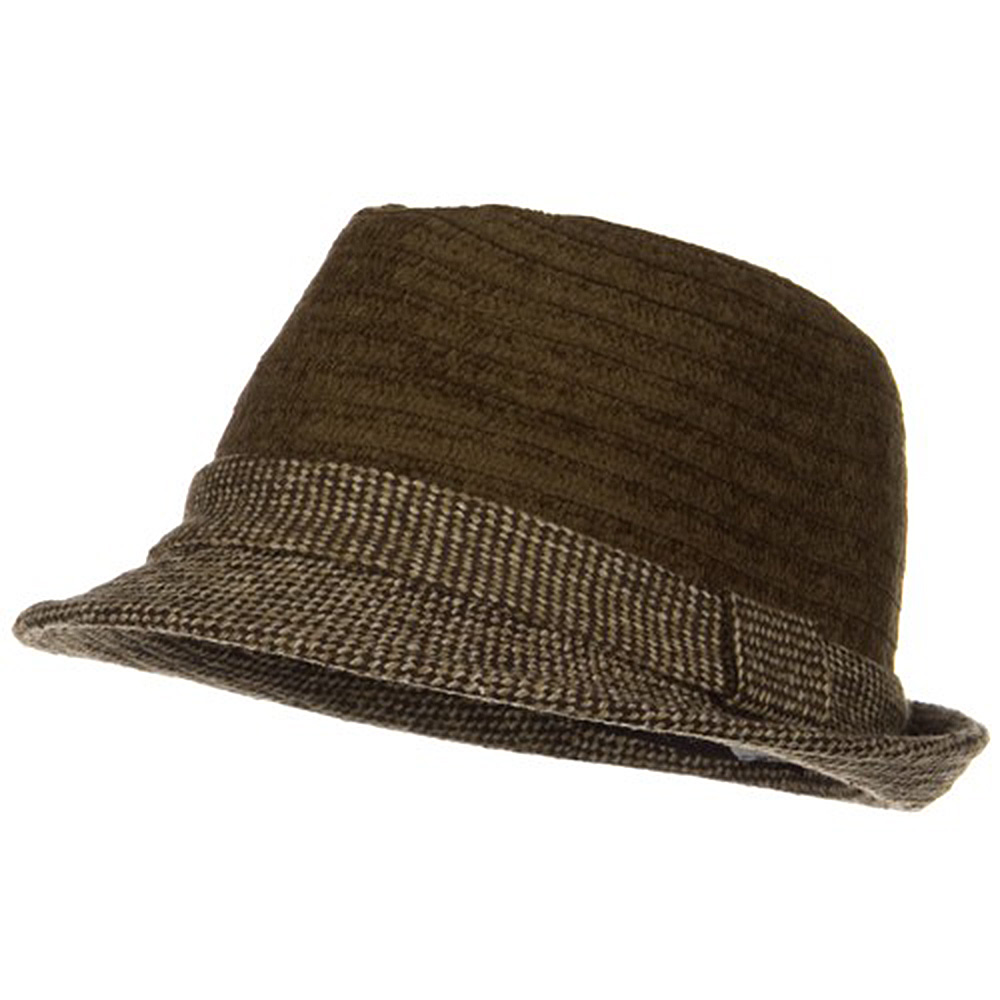 Braided Two Tone Fedora - Brown - Hats and Caps Online Shop - Hip Head Gear