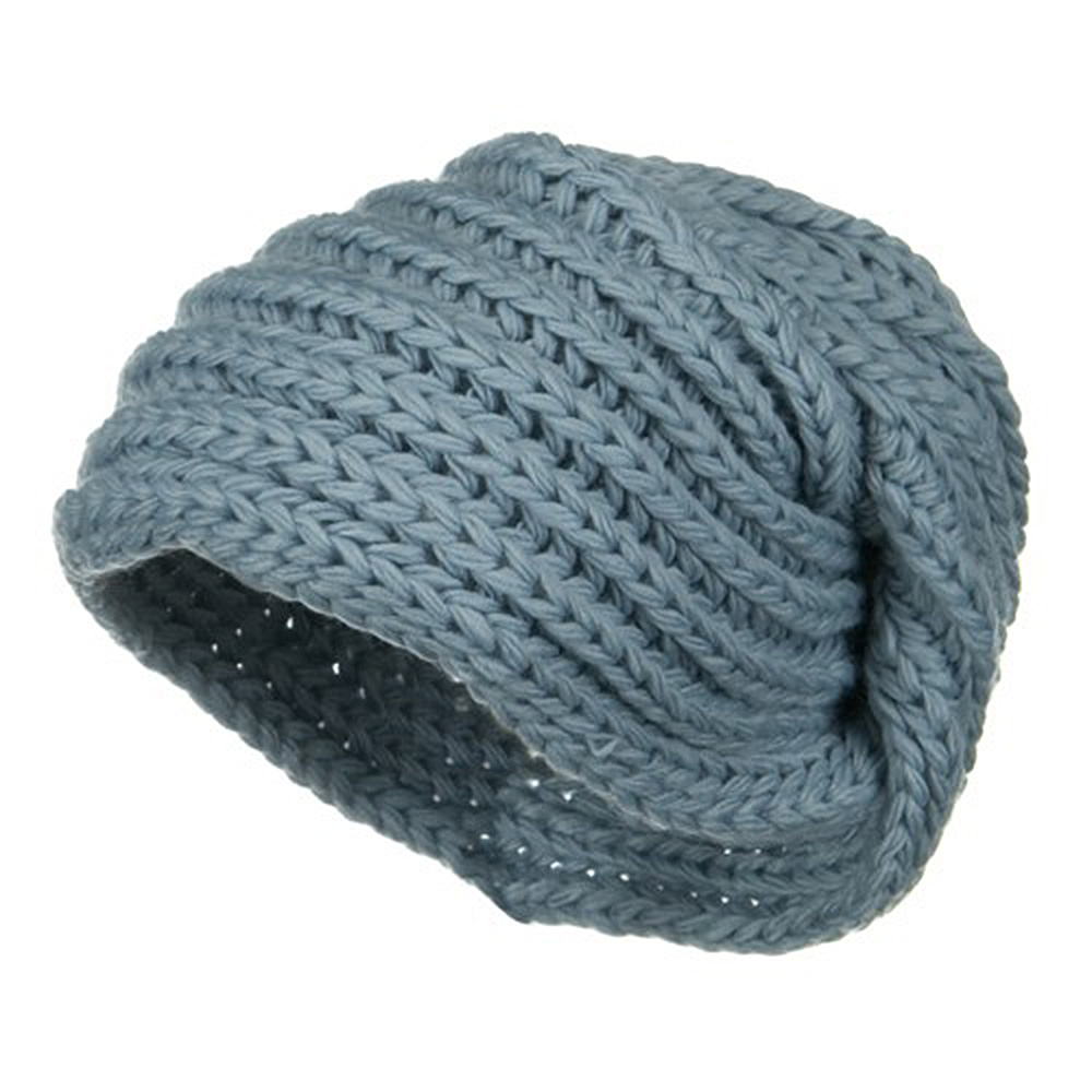 Women's Knit Wrap Beanie - Blue - Hats and Caps Online Shop - Hip Head Gear