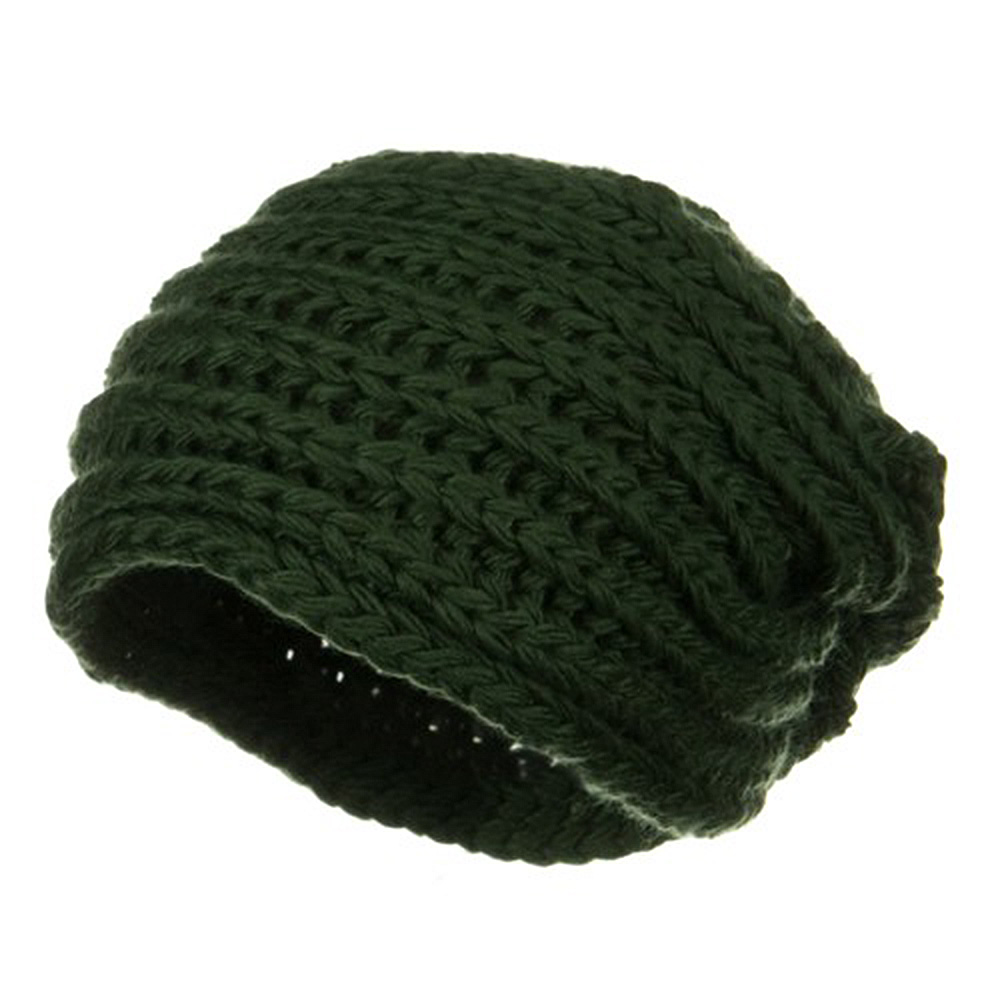 Women's Knit Wrap Beanie - Green - Hats and Caps Online Shop - Hip Head Gear