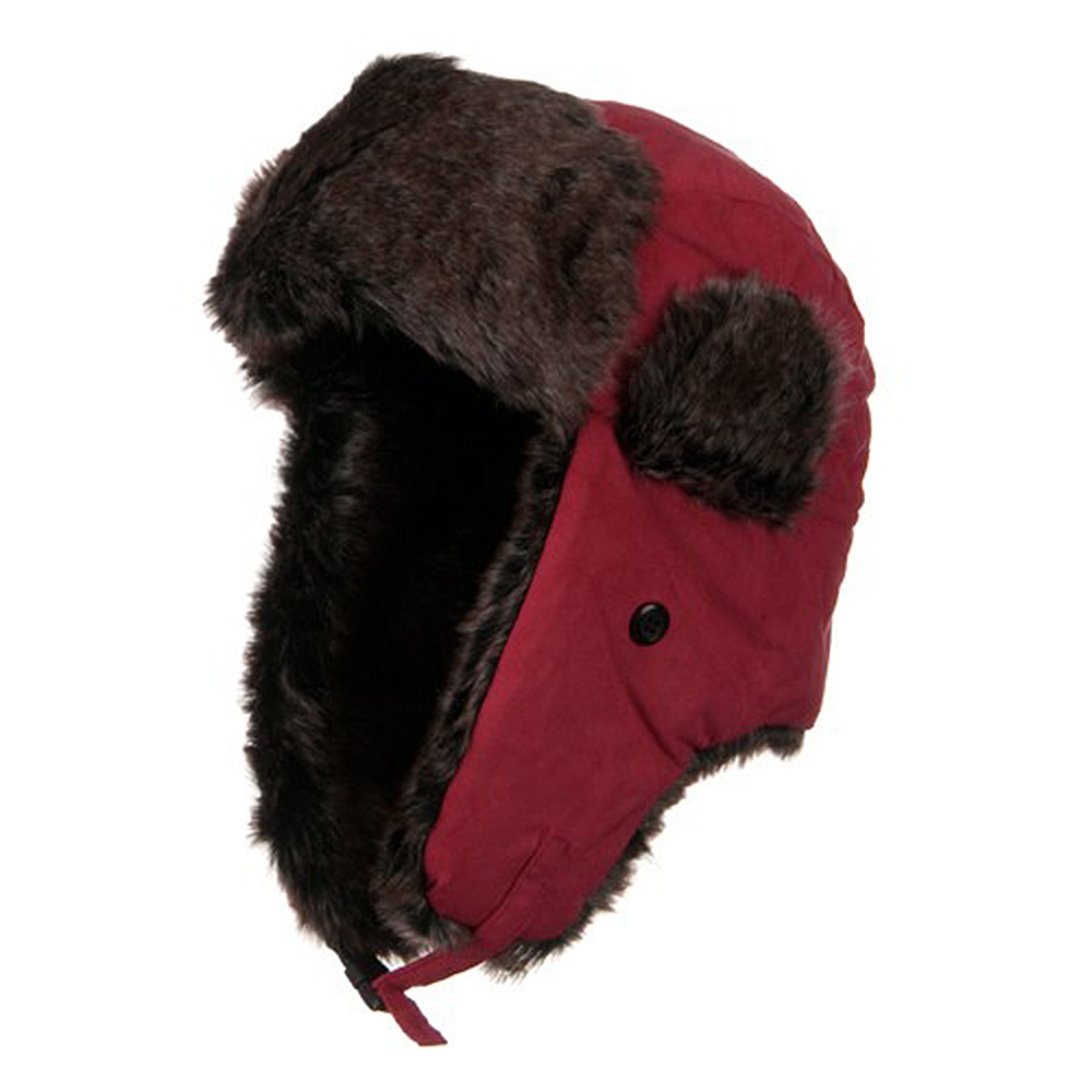 New Suede ML Winter Trooper Hat - Red - Hats and Caps Online Shop - Hip Head Gear