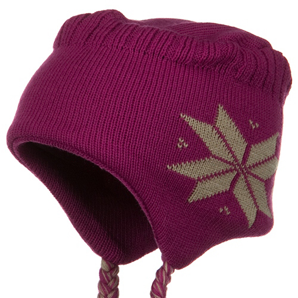 Flat Top Knit Hat - Fuchsia - Hats and Caps Online Shop - Hip Head Gear