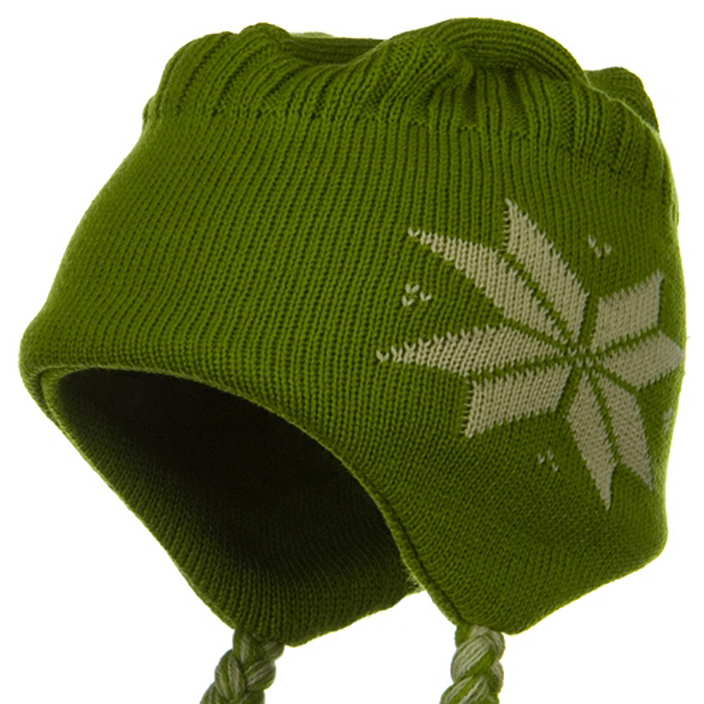 Flat Top Knit Hat - Green - Hats and Caps Online Shop - Hip Head Gear