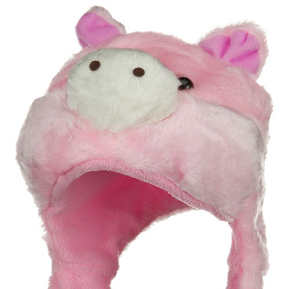 Fleece ML Animal Hat - Pig Pink - Hats and Caps Online Shop - Hip Head Gear