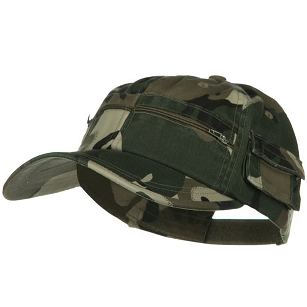 Casual Style Camo Washed Pocket Cap - Safari - Hats and Caps Online Shop - Hip Head Gear