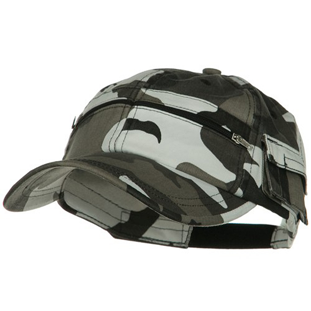 Casual Style Camo Washed Pocket Cap - City - Hats and Caps Online Shop - Hip Head Gear
