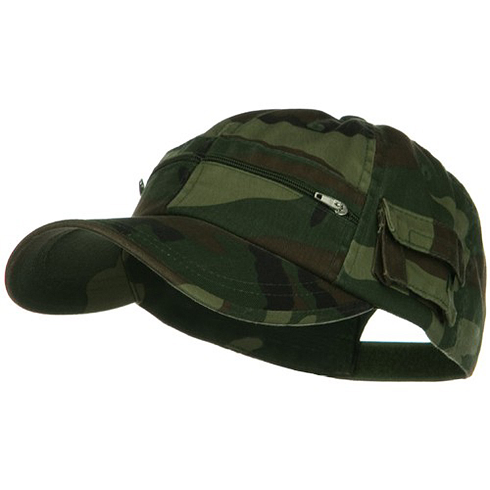 Casual Style Camo Washed Pocket Cap - Camo - Hats and Caps Online Shop - Hip Head Gear