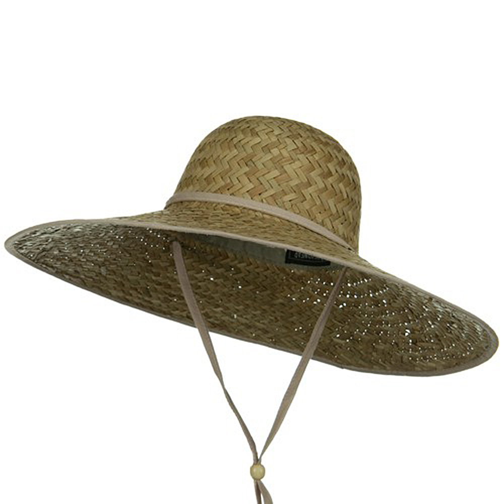 Palm Straw Large Brim Hat - Natural String - Hats and Caps Online Shop - Hip Head Gear