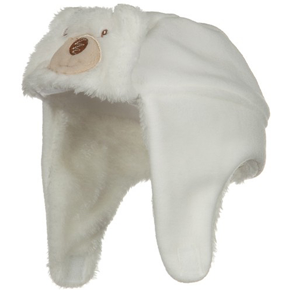 Fleece Toddler Bear Hat - White - Hats and Caps Online Shop - Hip Head Gear