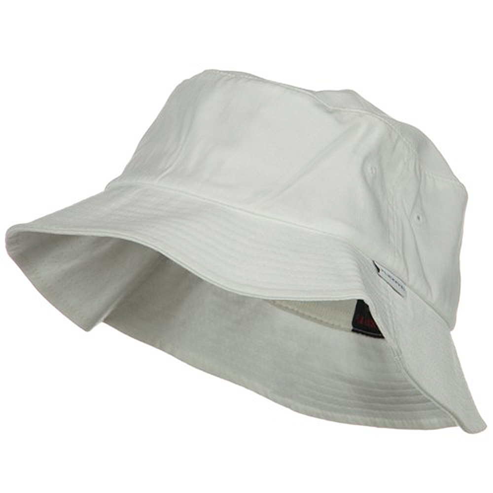 One Size Flexfit Cotton Twill Bucket Hat - White