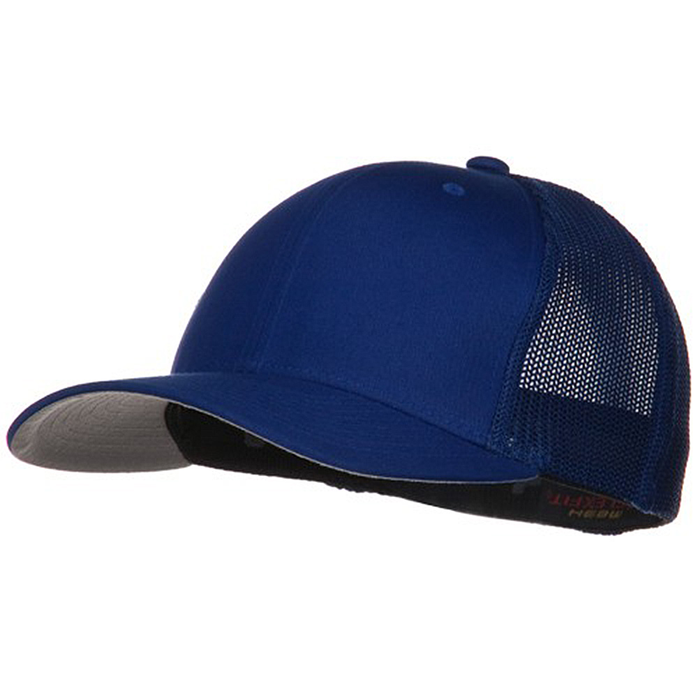 6 Panel Trucker Flexfit Cap - Royal - Hats and Caps Online Shop - Hip Head Gear