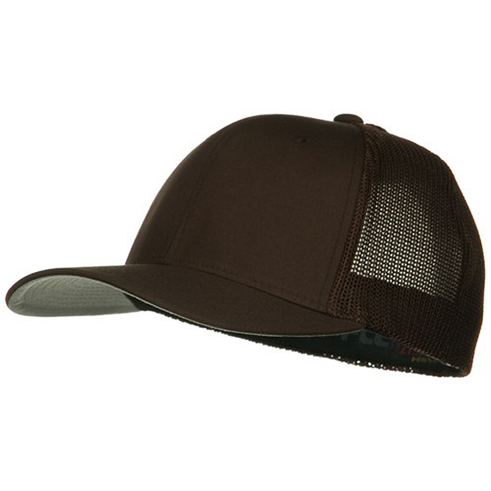 6 Panel Trucker Flexfit Cap - Brown - Hats and Caps Online Shop - Hip Head Gear
