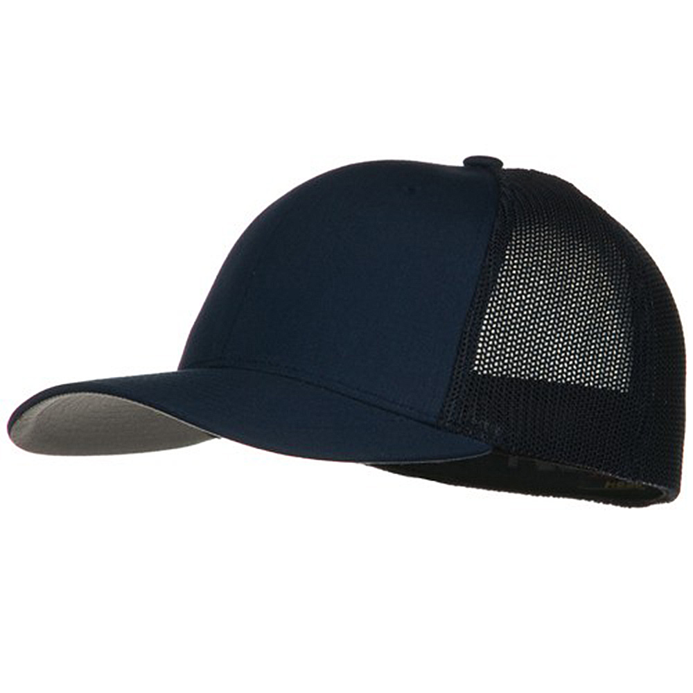 6 Panel Trucker Flexfit Cap - Navy - Hats and Caps Online Shop - Hip Head Gear