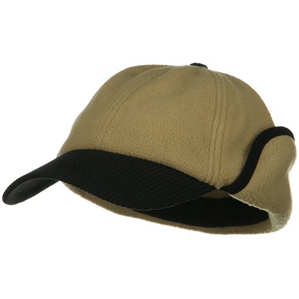 Anti Pilling Fleece Cap with Warmer Flap - Camel - Hats and Caps Online Shop - Hip Head Gear